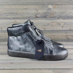 Women's Frye Lena Zip Hi Top Leather Sneakers